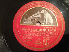 """LAWRENCE TIBBETT """"Largo Al Factotum Della Citta""""/""""Eri Tu Che..."""" 78rpm 12"""" EX+"""