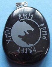 Runen Amulett Odins Wölfe auf Onyx