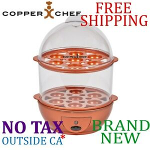 New Copper Chef Perfect Egg Maker 7 Eggs Cooker Poached