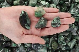 1/2 Pound Tumbled Emerald - 'AA' Grade - Wire Wrapping, Reiki, Wicca