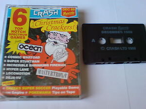 Crash Cadeaux De Noël Crackers! - Zx Spectrum 48k-afficher Le Titre D'origine Suppression De L'Obstruction