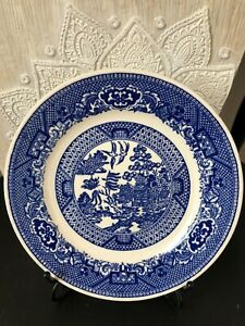 Royal-China-Blue-Willow-Bread-Dessert-Plate-Willow-Ware-6-5-16-034-Vintage