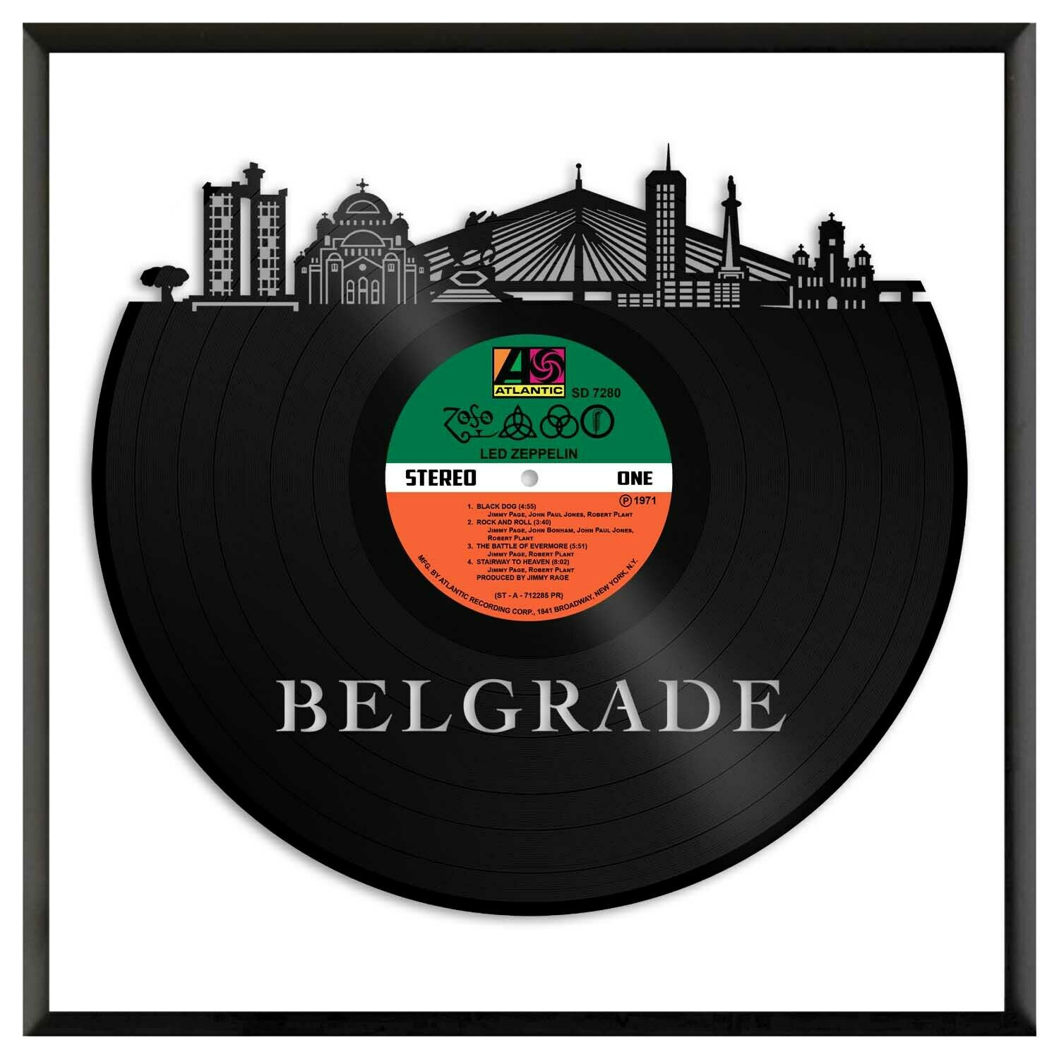 Belgrade Serbia Vinyl Wall Art Cityscape Exclusive Gift Room Decoration Framed