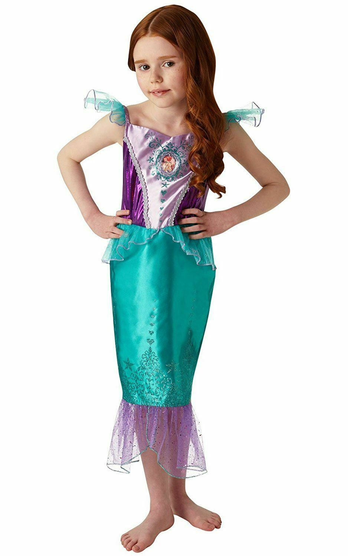 Girls Disney Ariel Costume Mermaid Fancy Dress Costume Age 5-6 Years