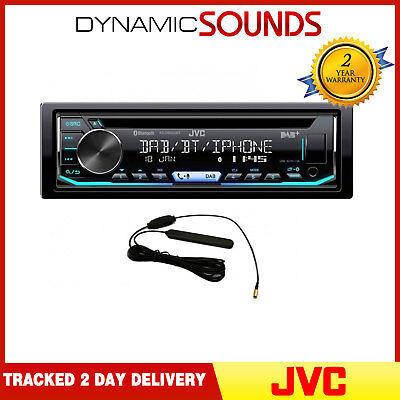 JVC KD-DB902BT CD receptor Bluetooth DAB USB AUX Headunit estéreo de coche
