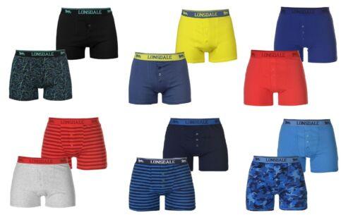 2 Pack Lonsdale London Boxer Short Boxers Pants Trunks S M L XL XXL 3XL 4XL