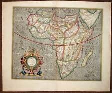 CARTE ANCIENNE ORIGINALE DU CONTINENT D'AFRIQUE par Mercator 1610 antic old map