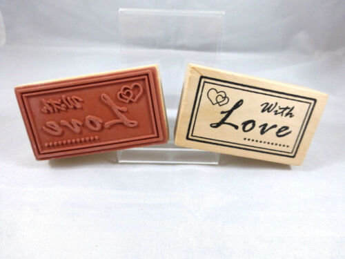 Motivstempel  With Love Stempel Basteln  Kartengestaltung  Basteln 70x40 mm