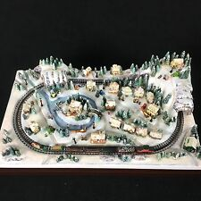 Hawthorne Village Thomas Kinkade Miniature Christmas Crossing Train 2008 VIDEO