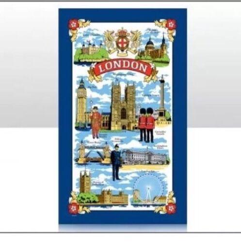 Londres Torchon touristique célèbre les icônes Design 100/% coton souvenir cadeau