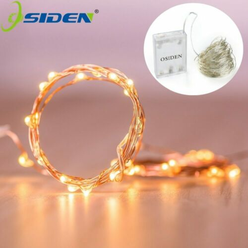 Led Strings light 2M 5M 10M 100led  Copper Wire 3XAA Battery Operated Christmas