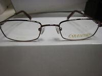 Caravaggio Eyeglass Frames Style Cara Sz. 47-18-130 Brown Free Unger Case
