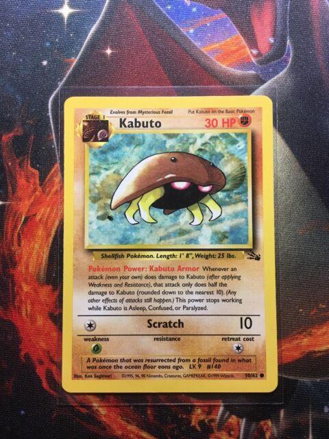 Kabuto Common 50/62 Fossil- Pokemon Vintage WOTC   eBay  Kabuto Pokemon Fossil