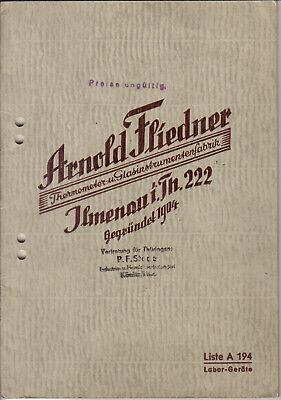 Gastfreundlich Antik Katalog Liste Labor Geräte Arnold Fliedner Ilmenau Thermometer Glas Fabrik