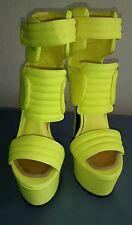 New STEVE MADDEN Neon Yellow Dubstep Stiletto Heels Size 7.5