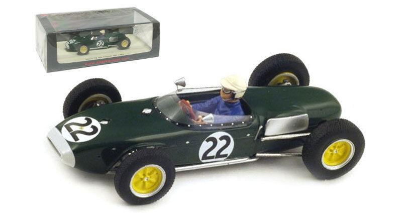 Spark S1823 Lotus 18 th francés GP 1960-Ron Flockhart 1 43 Escala