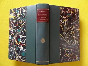 Ernest-Renan-Melanges-d-039-Histoire-Editions-Calmann-Levy-1902-demi-reliure-signee