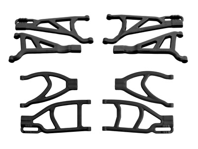 UPPER /& LOWER SUSPENSION A-ARMS Traxxas 1//10 E-Revo Brushless FRONT /& REAR