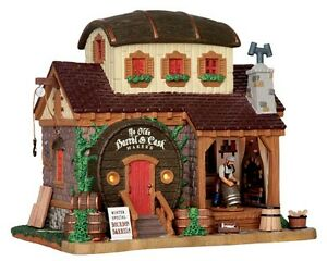 NUOVO-Lemax-Village-COLLECTABLES-YE-OLDE-Barile-amp-BOTTE-Makers-House-Mini-GIARDINO
