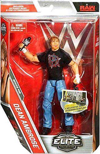 WWE DEAN AMBROSE THE SHIELD WWF MATTEL ELITE WRESTLING SERIES 48 FIGURE ACTION