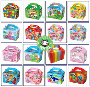 Boys Girls Teddy Bears Picnic Food Loot Lunch Party Treat Box Boxes