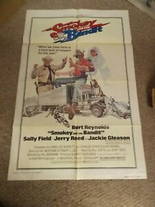 "SMOKEY AND THE BANDIT(1977)BURT RENOLDS ORIGINAL ONE SHEET POSTER 27""BY41"""
