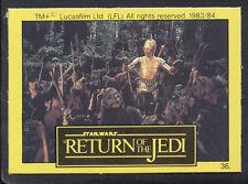 Monty Gum - Star Wars - Return of The Jedi - Card No 36