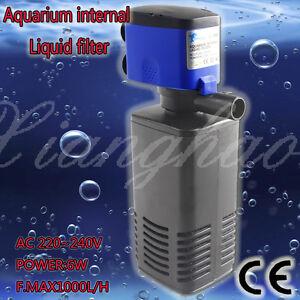 1000l h 6w unterwasser aquarium innenfilter pumpe schwammfilter tube ebay. Black Bedroom Furniture Sets. Home Design Ideas