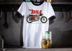 BSA-A65-Mens-Motorcycle-Ringer-T-Shirt-Size-XL-50-039-039