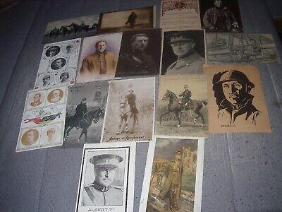beau lot de 16 cartes postales anciennes Roi Albert 1ier ww1 quelques circulées   eBay