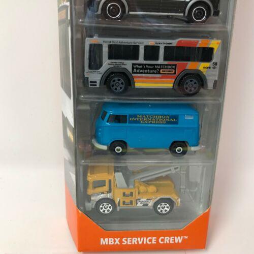 2019 Matchbox Q Case Service Crew w// Blue VW Van 5 Pack