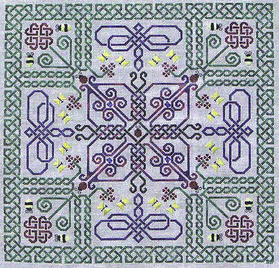 Celtic Snow embroidery pattern//pamphlet by Northern Expressions Needlework