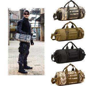 Tactical-Duffle-Cylinder-Pack-MOLLE-Handbag-Gear-Military-Shoulder-Messenger-Bag