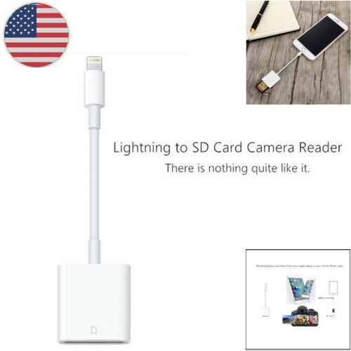 OTG SD Card Reader Digital Camera Reader Adapter Cable for IOS Phone7//6 6s in US