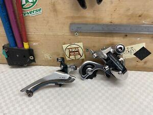 SHIMANO 105 Schaltwerk + Umwerfer RD-1050 FD-1050 vintage eroica roadbike