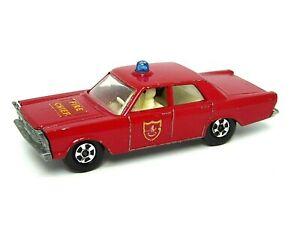 Matchbox-Lesney-No-59c-Ford-Galaxie-del-coche-jefe-de-bomberos