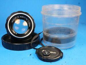 Nikon-Nikkor-S-Auto-Nippon-Kogaku-50mm-f1-4-Lens-non-AI-Cap-amp-Case