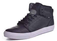 NEW Vans Alomar Mens 8.5 Womens 10   Reverse Black White Leather Hi Top Sneakers
