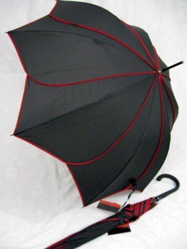 PIERRE CARDIN Glockenschirm Regenschirm Sunflower schwarz Blüte Stockschirm