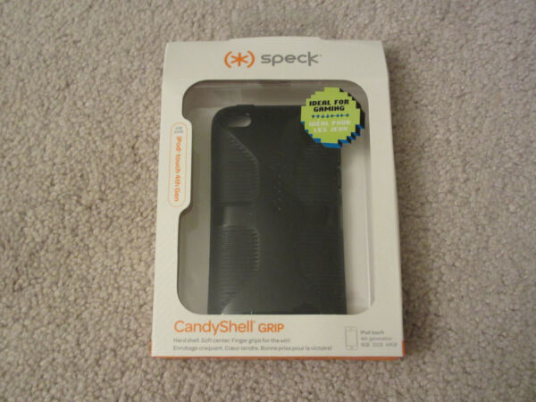 $35 New Speck Black Candyshell Grip Apple Ipod Touch 4th Generation Spk-a0164 Exquise (On) Vakmanschap