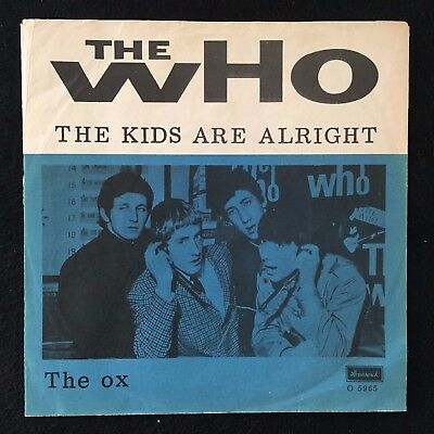 The Who: The Kids are alright / The ox. Ultra Rare Danish issue.