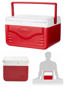 Personal Cooler Coleman Food Ice Chest Lunch Box 5 Qt Small Picnic Camping RED