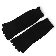 Footful Pair Unisex Five Fingers Toe Socks Breathable Warm Yoga Casual Blk