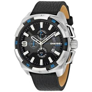 DZ4392-New-Genuine-DIESEL-Heavyweight-Chrono-Watch-On-Black-Leather-RRP-219