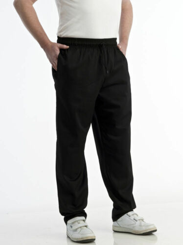 Black Chef Trousers Chef Pants Chef Catering Uniform Elasticated waist brand new