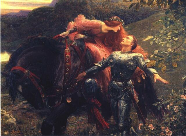 Frank Dickee The Belle Dame Pre Raphaelite Canvas Art Poster Print Painting