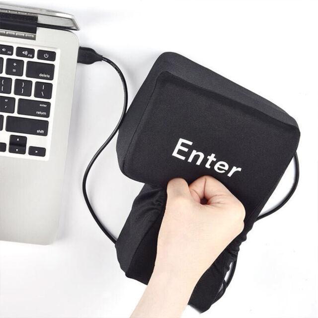 Office Computer Jumbo USB Big Enter Key Pillow USB Gadgets Desktop Nap Pillow An