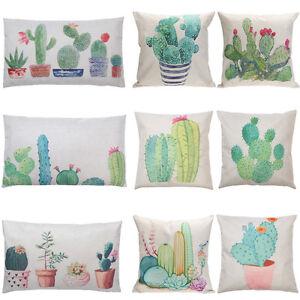 Plants-Cactus-Cotton-Linen-Throw-Case-Sofa-Waist-Cushion-Cover-Home-Decor-Pillow