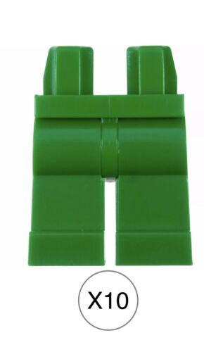 Mini Figures Plain Green Legs And Hip Body Parts Bulk Lot Lego X10 Green Legs