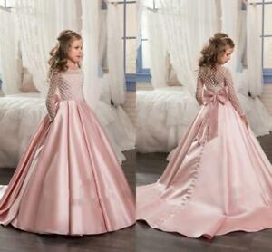 New-Prom-Bridesmaid-Princess-Wedding-Girls-Dress-Maxi-Evening-Party-Kids-Clothes